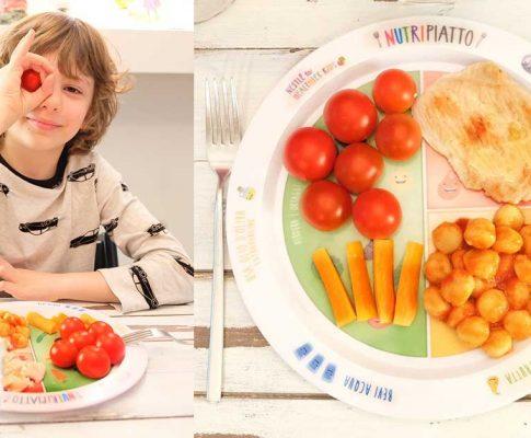 Bambini e cibo: un piatto intelligente ci farà da guida